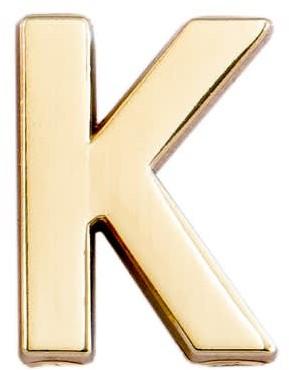 Make Heads Turn Letter K Pin