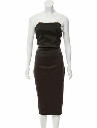 Dolce & Gabbana Strapless Knee-Length Dress Black