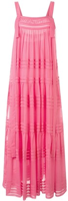 Lee Mathews Kitty pleated apron dress