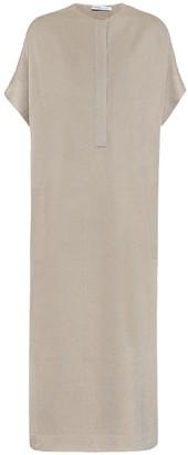 Agnona Wool-blend knit midi dress