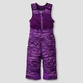 RBX Toddler Girls' RBX Printed Snow Bib Overalls Purple
