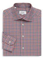 Eton Gingham Print Regular-Fit Cotton Dress Shirt