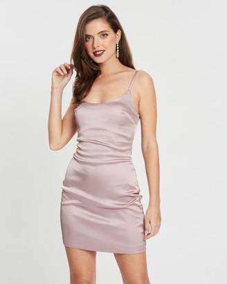Missguided Petite Petite Satin Slip Dress