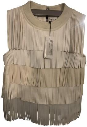 Sonia Rykiel Beige Leather Top for Women