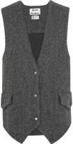 Acne Studios Oversized Wool-tweed Gilet - Gray