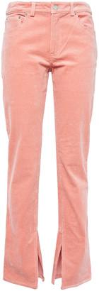 Ganni Stretch-cotton Corduroy Slim-leg Pants
