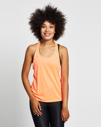 Nike Women's Orange Muscle Tops - Miler Tank Racer Back Top - Size S at The Iconic
