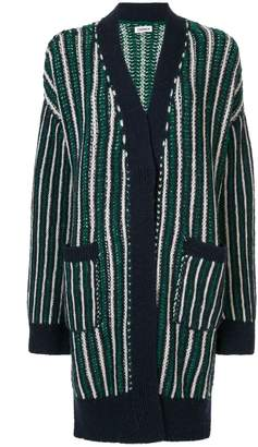 Coohem ivy stripe cardigan coat