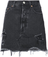 Levi's frayed denim skirt