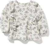 Old Navy Double-Ruffle Crepe Top for Baby