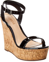 Schutz Eduarda Patent Wedge Sandal