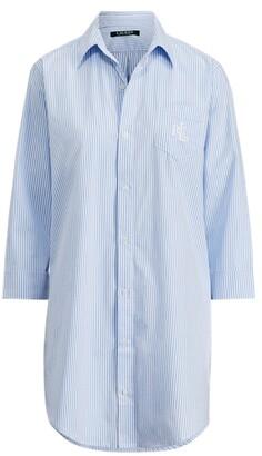 Lauren Ralph Lauren Ralph Lauren Striped Cotton Sleep Shirt