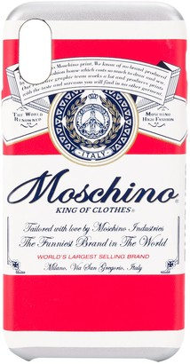 Moschino King of Clothes print iPhone XS/X case