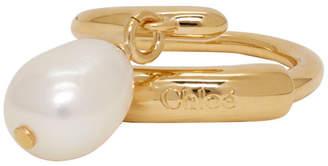 Chloé Gold Pearl Ring