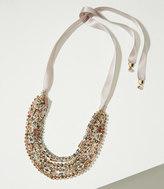 LOFT Ribbon Multistrand Beaded Necklace