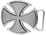 Silver Celtic Iron Cross Maltese Belt Buckle