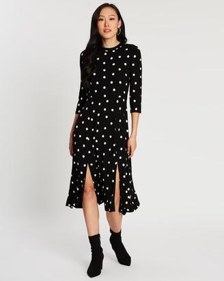 Dorothy Perkins Spot Split Midi Dress