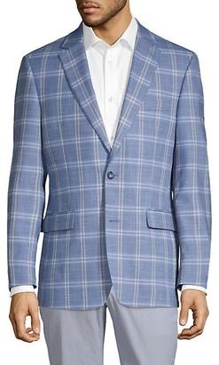 Tommy Hilfiger Trevor-Fit Windowpane Sportcoat