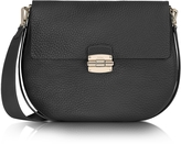 Furla Club M Onyx Pebble Leather Shoulder Bag