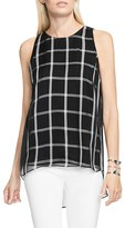 Vince Camuto Women's Duet Stripe Chiffon Overlay Blouse