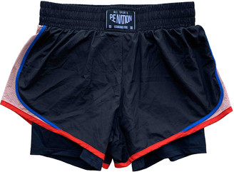 P.E Nation Black Polyester Shorts