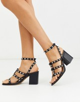 Design DESIGN Haiti studded blocked heeled sandals in black