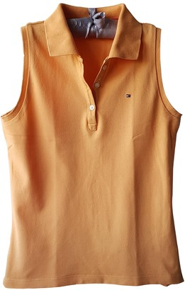 Tommy Hilfiger Orange Cotton Top for Women