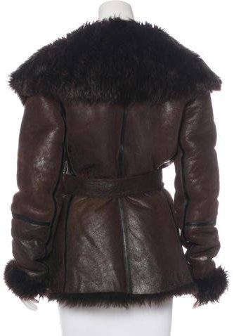 Michael Kors Suede Shearling Jacket