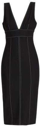 Cinq à Sept Taya V-Neck Topstitch Dress