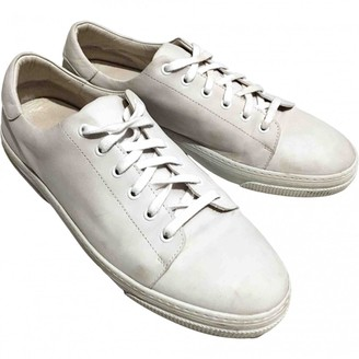 A.P.C. White Leather Trainers