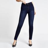 River Island Dark blue Kaia high rise disco jeans
