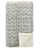 Fashion World Supersoft Faux Fur Embossed Sherpa Throw