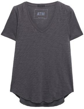 ATM Anthony Thomas Melillo Slub Melange Cotton-jersey T-shirt