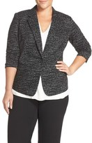 Vince Camuto Plus Size Women's Jacquard Knit One-Button Blazer