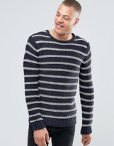 Solid !Solid Chunky Knit With Stripe