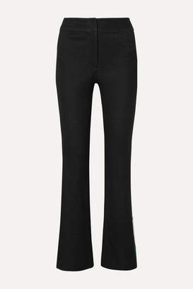 Monse Striped Cotton-blend Jacquard Flared Pants - Black