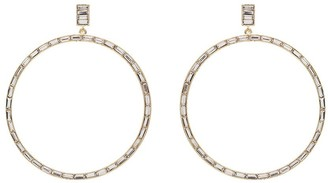 Kenneth Jay Lane crystal hoop earrings