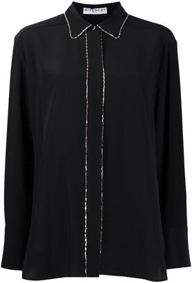 Givenchy Crystal-Trim Fluid Shirt