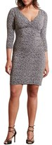 Lauren Ralph Lauren Plus Size Women's Tweed Print Empire Waist Jersey Dress