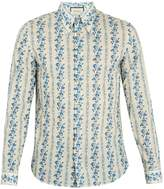 Gucci Floral and logo-print cotton-poplin shirt