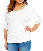Peter Nygard Plus Dolman Sleeve Top