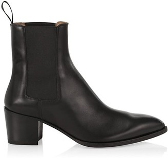 Christian Louboutin William Leather Western Ankle Boots