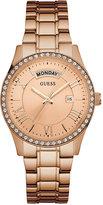 GUESS Women's Rose Gold-Tone Stainless Steel Bracelet Watch 37mm U0764L3
