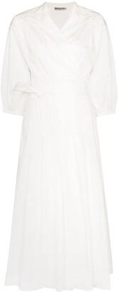 Three Graces Delmare cotton wrap dress