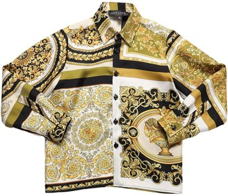 Versace Baroque Print Twill Shirt