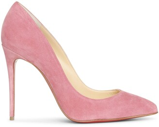 Christian Louboutin Pigalle Follies 100 pink suede pumps