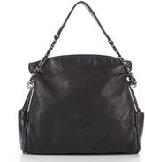 Black Hobo Bag Silver Hardware - ShopStyle