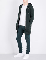 Balmain Long-line cotton hoody