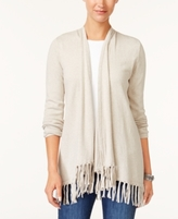 Style&Co. Style & Co Style & Co Petite Fringed Cardigan, Created for Macy's