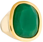 Kenneth Jay Lane Glass Cocktail Ring